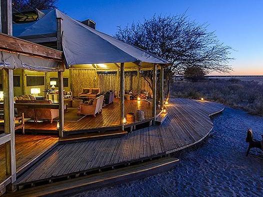 Kalahari plain's camp, Botswana