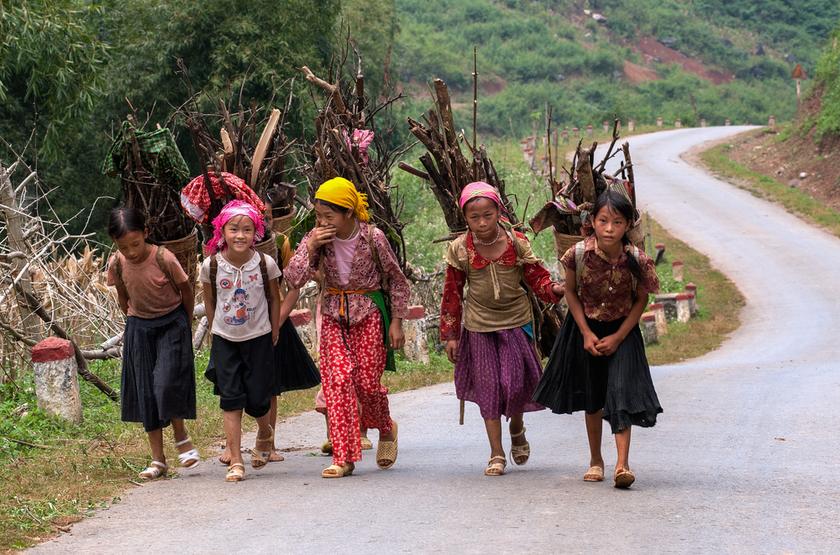 Jeunes filles, VietNam du Nord